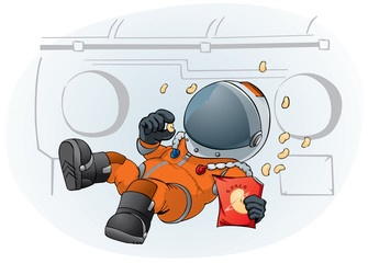 astronaut in the space ship