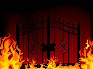 Fototapete - Gate to hell