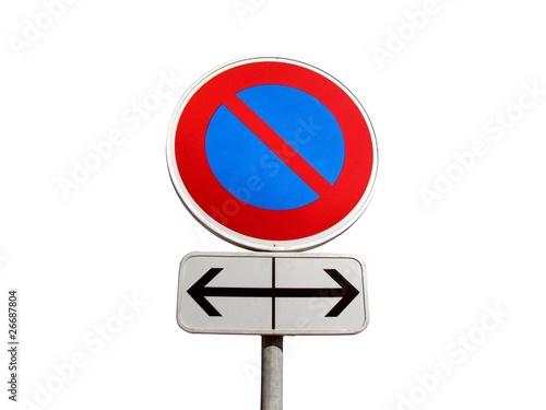 panneau de stationnement interdit photo libre de droits sur la banque d 39 images. Black Bedroom Furniture Sets. Home Design Ideas
