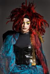 Drag queen in studio