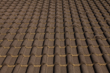 Background tile roof