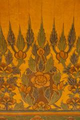 Pattern Thai art on temple walls.