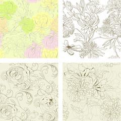 Set of seamless wallpaper