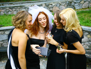 Group of beautiful women