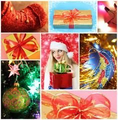 Collage on a Christmas theme