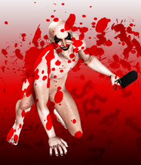 Bloody Bone Saw Clown