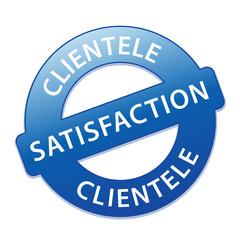 Tampon SATISFACTION CLIENTELE (satisfait service clients qualité