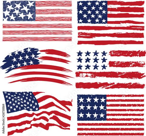 american flag vintage vector - photo #23