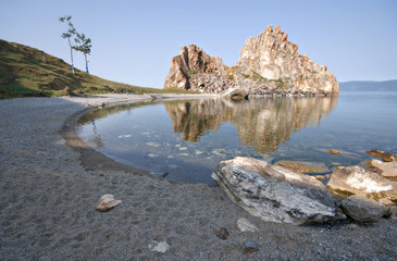 Cape Burkhan, island Olkhon, Lake Baikal. Siberia, Russia.