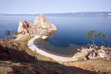 Cape Burkhan (Shamanka), Lake Baikal, island Olkhon. Siberia.