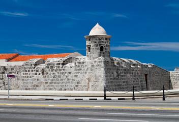 The old colonial castle of La Punta in Havana, Cuba