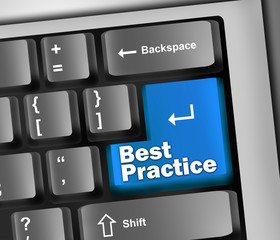 "Keyboard Illustration ""Best Practice"""