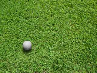 Top View of Golf ball
