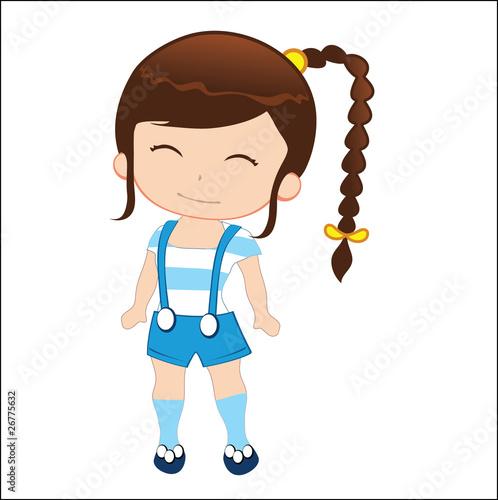 Cartoon girl on girl