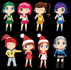 cute characters of girls