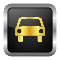 gold icon set - car