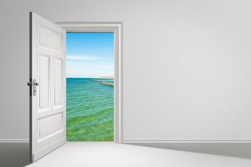 Tür, Urlaub, Meer
