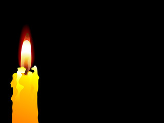 Fototapete - Yellow candle