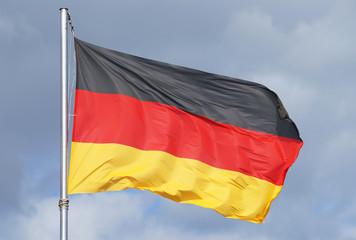 Deutschland Flagge im Sonnenlicht