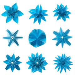 Origami snowflake set