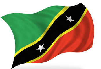 Saint kitts Nevis  flag