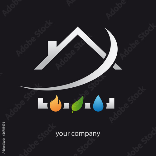 logo entreprise plomberie chauffage fichier vectoriel libre de droits sur la banque d 39 images. Black Bedroom Furniture Sets. Home Design Ideas