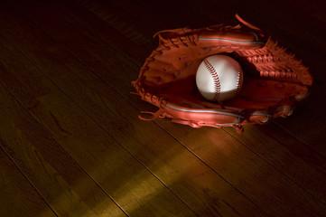 野球のボールとグローブ