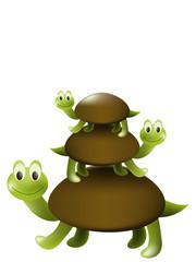 Three turtles