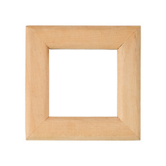 Retro, square frame on white background.