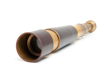 spyglass pirate Scope Monocula over white background