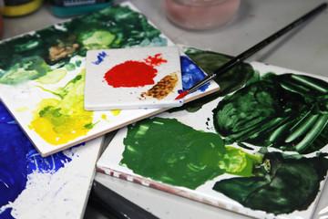 pallette de peinture