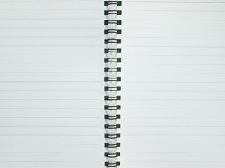 Blank pages with line spiral notebook