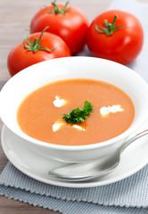 Tomatensuppe mit Creme Fraiche