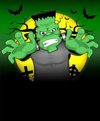 Frankenstein halloween background