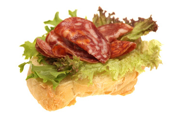 Salchichon Iberico Ham on Ciabatta