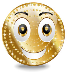 Gold Smiley