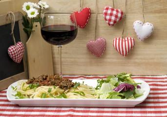 Fototapeta Spaghetti&Wein obraz