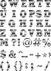 Металлический шрифт AI