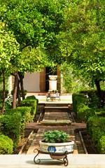 Garden of the famous alcazar of Cordoba