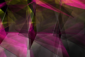 abstract intersecting bright fabrics