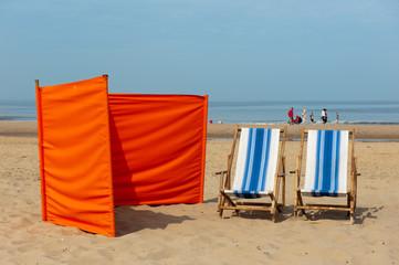 Dutch beach near the North-sea