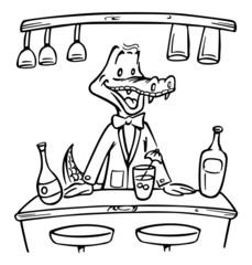 bartender alligator