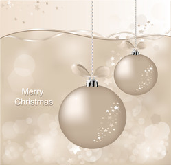 christmas  background with  ball and asterisks