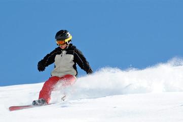 Powder Snowboard Kid