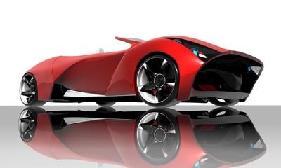 Foto op Canvas Snelle auto s Red car