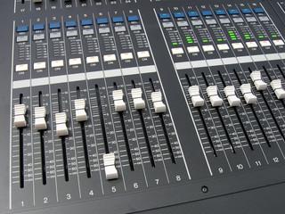 electronic black control panel, power volume, device