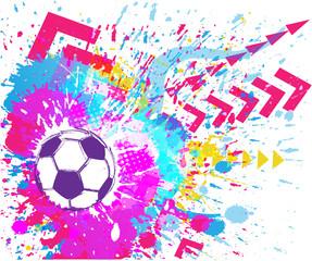 Contemporary Art. Football background