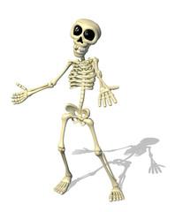 Cartoon Skeleton Welcome - 3d render