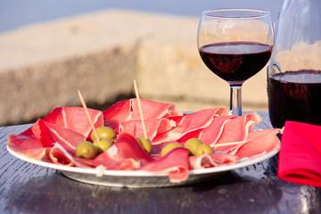 Schinken Rotwein