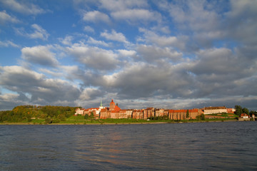 Granaries of Grudziadz at Wisla river - Poland